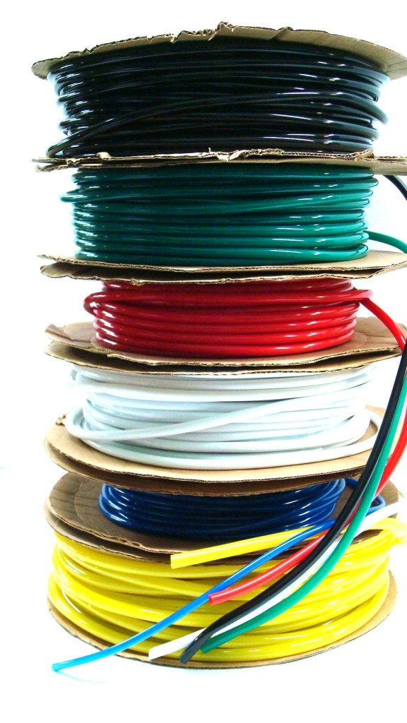 Colored vinyl tubing